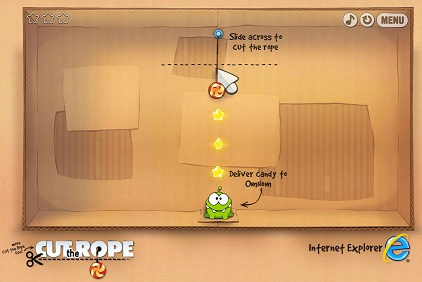 ��������� ���������� ������ ���������� ���� Cut the Rope