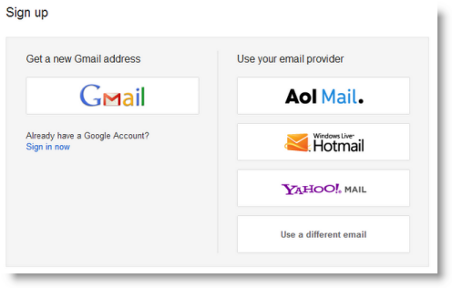 Новая учётная запись Google — это не только Gmail, но и Google+