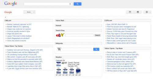 Google тестирует новый интерфейс iGoogle