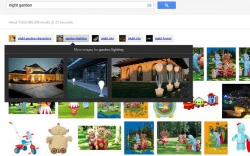 Google начал эксперименты с показом связанных запросов в Google Image Search