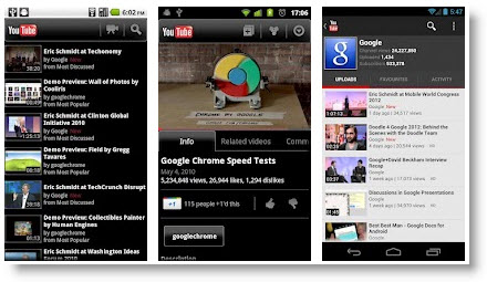 В YouTube для Android появилась поддержка HD-видео