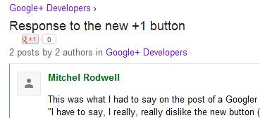 У кнопки «+1» изменился внешний вид