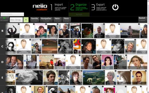 Адресная книга Neiio: объединение Gmail, Facebook и Twitter