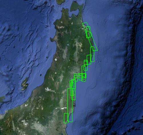 В Google Maps обновились снимки разрушенных городов Японии