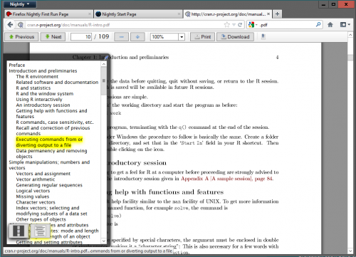 Firefox 14 получит средство просмотра PDF на базе HTML5 и JavaScript