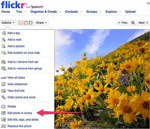 Flickr будет использовать фоторедактор Aviary вместо Picnik