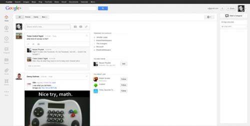 Пустые участки в новом дизайне Google+ были сделаны специально