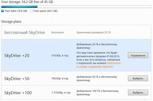 Облачное хранилище SkyDrive получило большое обновление