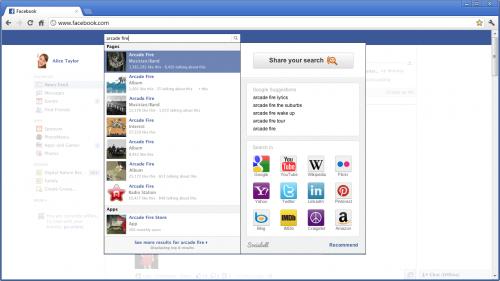 Плагин Sociabell улучшает поиск в Facebook