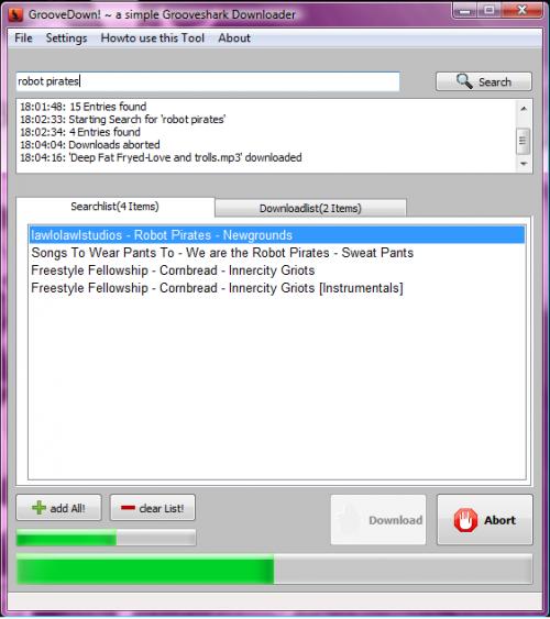 GrooveDown поможет скачать музыку с Grooveshark