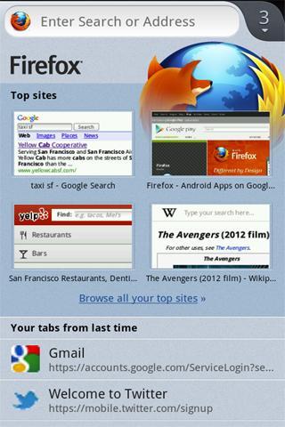 Бета Firefox для Android: новый интерфейс и поддержка Flash