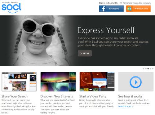 Microsoft запустила собственную социальную сеть So.cl