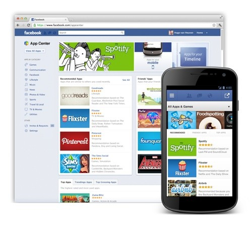App Center от Facebook обзаведётся функцией «Send to Mobile»
