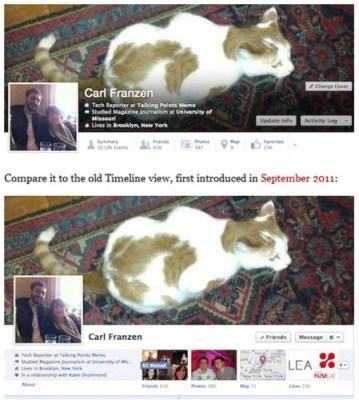 Facebook тестирует обновленный интерфейс Timeline