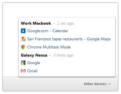 Chrome разрешил смотреть за вкладками на других устройствах