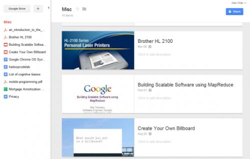Просмотр папки вGoogle Drive