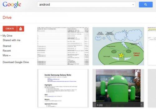 Поиск изображений вGoogleDrive