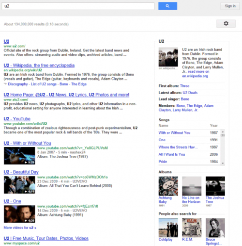 Google тестирует новый интерфейс инфопанелей