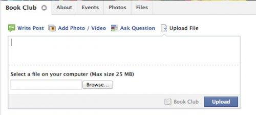 Facebook внедряет для групп средства публикации файлов