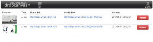 dropcanvas — Быстрый обмен файлами без регистрации