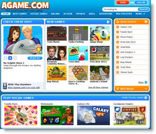 Agame.com — твоя зона онлайн игр!