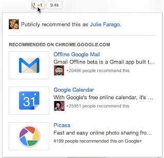 Кнопка «+1» от Google будет рекомендовать страницы