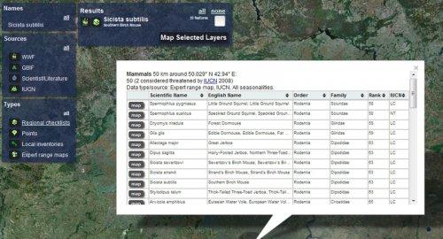 Map of life — каталог информации о биологических видах на Земле