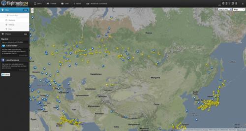 FlightRadar24.com — куда летит самолет?