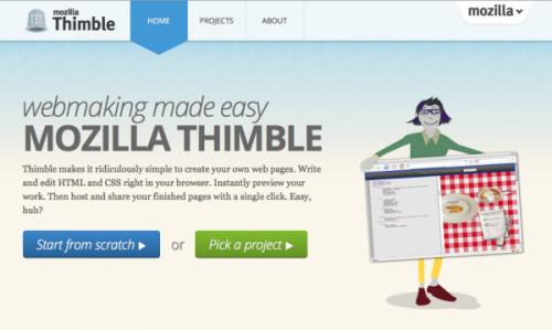 Mozilla представила проект Webmaker и редактор Thimble