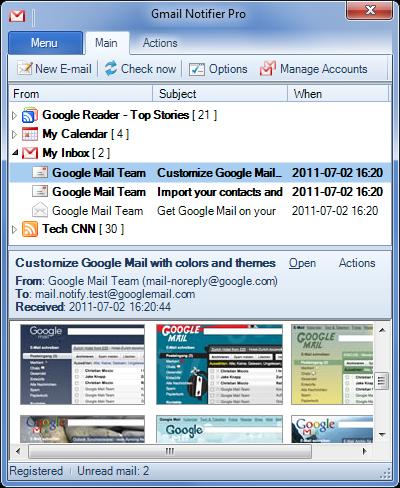 Gmail Notifier Pro — нотификатор почты, новостей, задач, обновлений сайтов