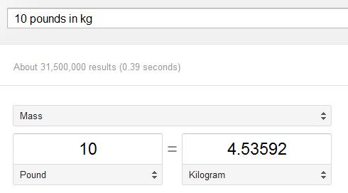 Используем обновленный конвертер величин от Google