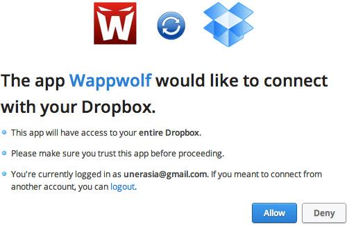 ��� ���������������� �������� � ������� � Dropbox