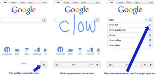 Мобильный поиск Google получил поддержку рукописного ввода