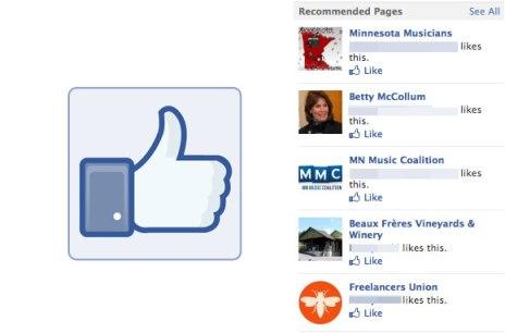 Facebook представила новый плагин Recommendations Bar