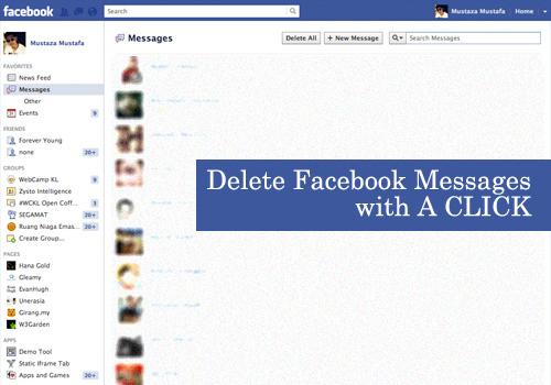 Как одним щелчком мыши удалить все сообщения в Facebook