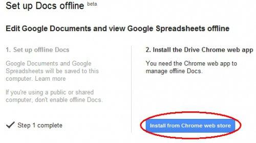 Работаем в Google Docs офлайн
