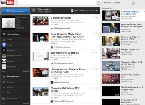 YouTube тестирует новый интерфейс главной страницы