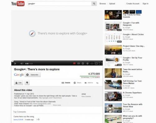YouTube тестирует новый интерфейс страницы просмотра видео