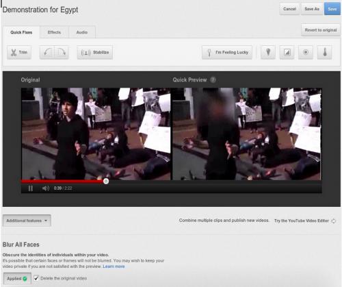 Теперь на Youtube можно размывать лица (функция скрытие лиц)