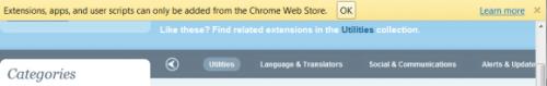 Расширения не из Chrome Web Store будет сложнее установить