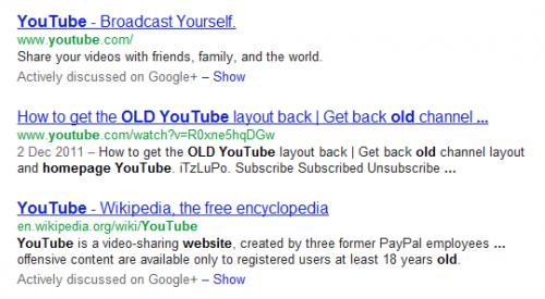 Активные обсуждения в Google+