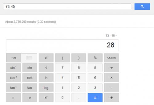 Новый интерфейс калькулятора Google