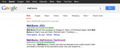 Google изменила страницу с результатами поиска