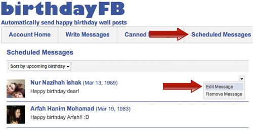 Как не пропустить дни рождения друзей на Facebook?