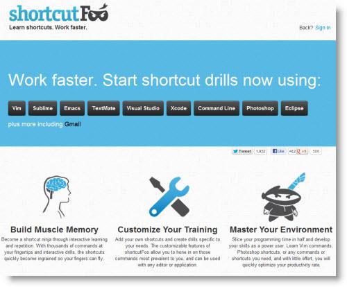 ShortcutFoo — Тренировка мускульной памяти у программистов