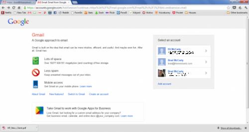 Google тестирует новую страницу входа в Gmail