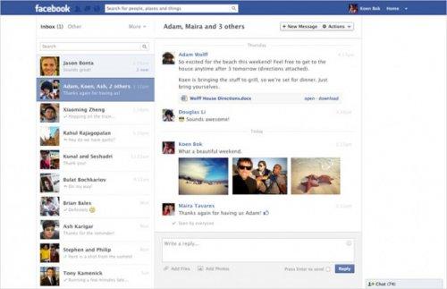 Интерфейс сервиса сообщений Facebook стал похож на дизайн популярных IM-мессенджеров