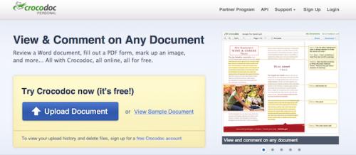 Crocodoc.com позволит обработать и поделится PDF-документом онлайн