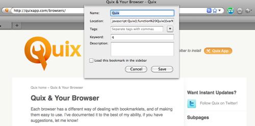 Quix — командная строка для вашего браузера