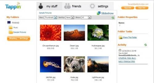 Tappin — это облачный сервис для обмена файлами без ограничений